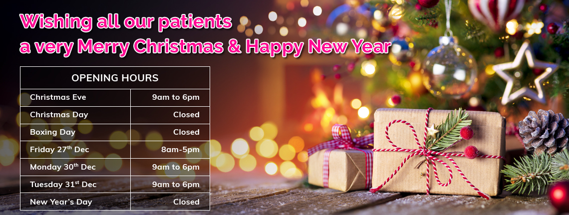 Wishing all our patients a very Merry Christmas & Happy New Year